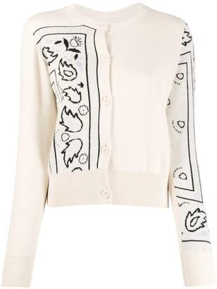 Barrie Bandana Pattern Cardigan
