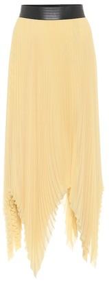 Loewe Pleated georgette asymmetric midi skirt