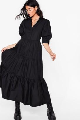 Nasty Gal Womens Smock What You're Doing Maxi Shirt Dress - Black
