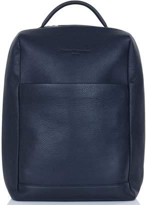 Richmond David Hampton Leather Laptop Backpack In Midnight