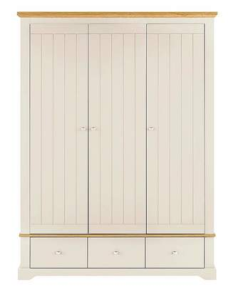 At Home Collection Hampton 3 Door 3 Drawer Wardrobe