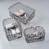 Graham and Green Wire Baskets Set Of Three