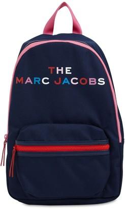 Little Marc Jacobs Logo Print Nylon Canvas Backpack