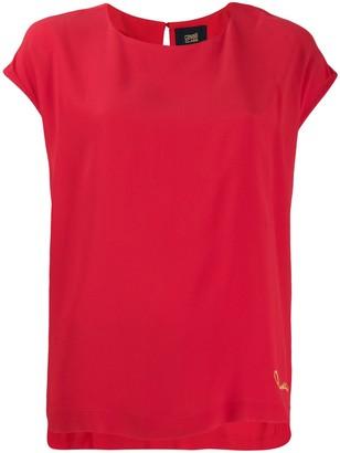 Class Roberto Cavalli logo embroidered T-shirt
