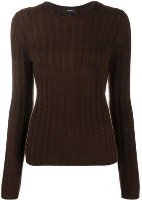 Theory Cable-Knit Jumper