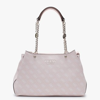 GUESS Lorenna Girlfriend Pink Repeat Logo Shoulder Bag