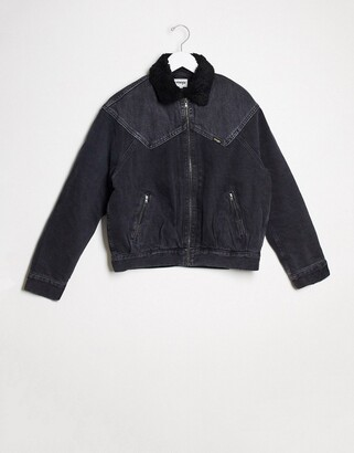 Wrangler 80s sherpa jacket in black