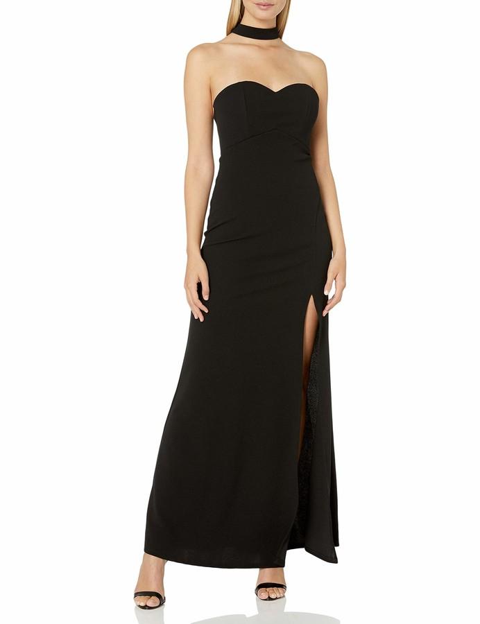 My Michelle Women's Choker Neckline Gown
