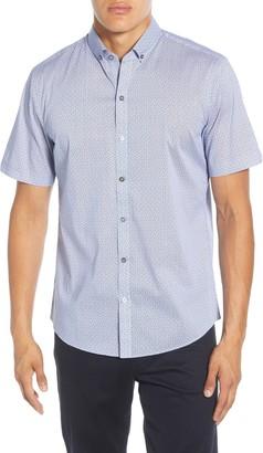 Zachary Prell Edelman Regular Fit Short Sleeve Button-Down Sport Shirt