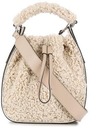 Hogan Shearling Effect Bucket Bag