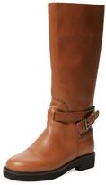 Jil Sander Navy Leather Buckle Boot
