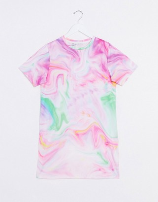 Noisy May tie dye t-shirt dress