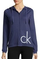 Calvin Klein Solid Zipped Pullover