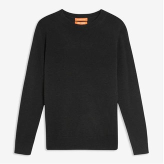 Joe Fresh Women's Cashmere Crew Neck Sweater, Black (Size M)