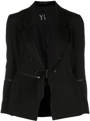 Y's Zip Detail Tailored Blazer