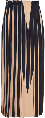 MM6 MAISON MARGIELA Pleated Neon Printed Cady Midi Skirt