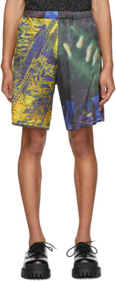 Ottolinger Multicolor Lucie Stahl Edition Silk Print Shorts