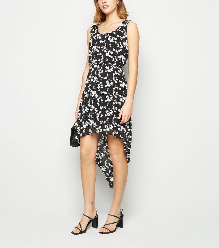 New Look Mela Floral Dip Hem Dress