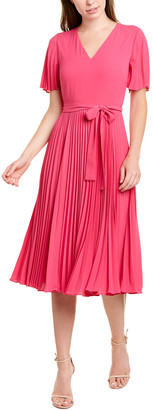 Donna Morgan Pleated Midi Dress