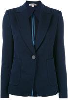 Diane von Furstenberg single button blazer - women - Polyamide/Spandex/Elastane/Polyester - 2