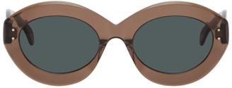Alaia Brown Oversized Cat Eye Sunglasses