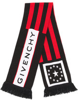 Givenchy logo print scarf - men - Acrylic/Wool - One Size