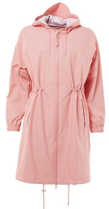 Rains Long W Coat Coral - XS/S