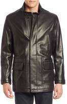 Cole Haan Leather Field Jacket