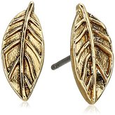 The Sak Leaf Gold Stud Earrings
