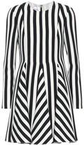 Valentino Striped wool and silk dress