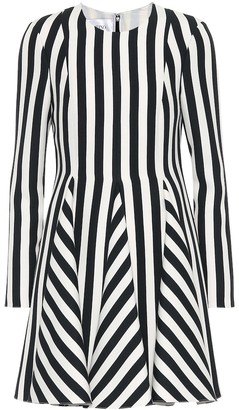 Valentino Striped wool and silk dress