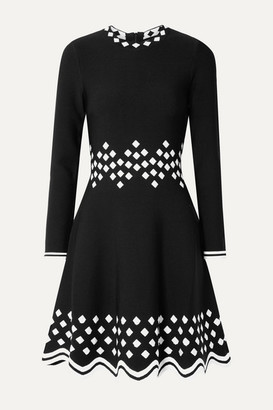 Lela Rose Jacquard-knit Dress - Black