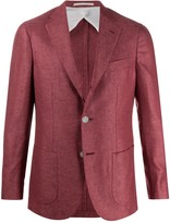 Barba Gimmy fine knit blazer jacket