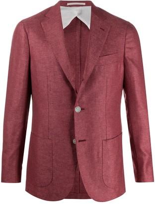 Barba Gimmy fine knit blazer jacket