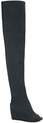 Peter Non Isko socks denim boots