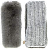 Yves Salomon knitted fur arm warmers