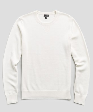 Todd Snyder Cotton Cashmere Sweater in Ivory