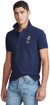 Polo Ralph Lauren Men's Custom Slim Fit Polo Bear Mesh Polo Shirt
