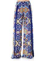 Matthew Williamson Tula lace-print wide-leg trousers