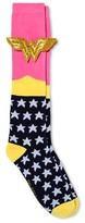Wonder Woman Women's 3D Applique DC Comics Wonder Woman Knee High Socks - Navy 9-11