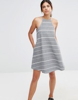 NATIVE YOUTH High Neck Stripe Dress