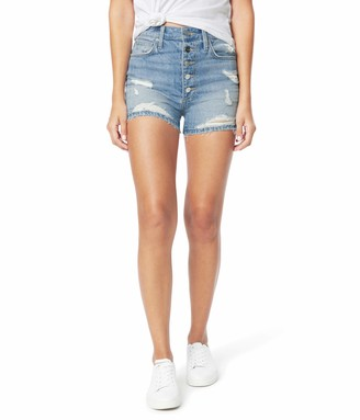 Joe's Jeans Kinsley Shorts Exposed Button Fly Fray Hem in Tulip Tulip 31