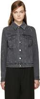 Givenchy Grey Distressed Denim Jacket