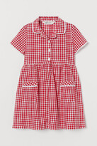 H&M Checked Cotton Dress - Red