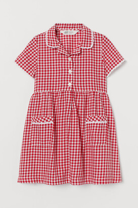 H&M Checked cotton dress