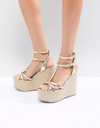 Miss KG Rope Super Stacked Wedge-Gold
