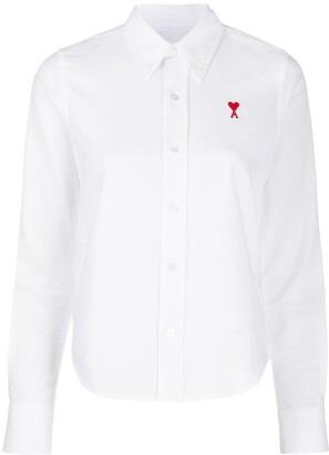 AMI Paris Ami de Coeur embroidered shirt