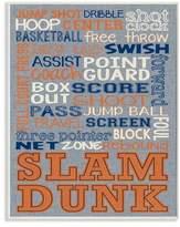 Stupell Industries Basketball Denim Feel Wall Plaque Art