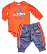 adidas 2-Piece Sport DNA Bodysuit and Pant Set in Red