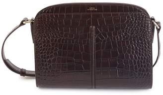 A.P.C. Aurelie Embossed Croco bag
